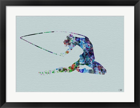 Framed Dancer Watercolor 4 Print