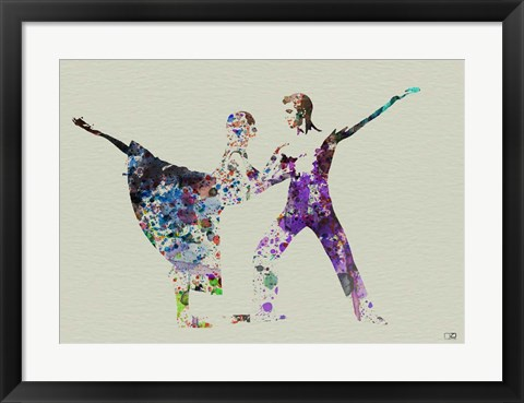 Framed Ballet Watercolor 2A Print