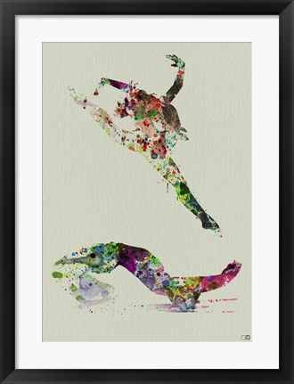 Framed Ballet Watercolor 3A Print