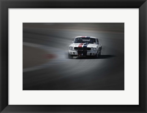 Framed Mustang on the racing Circuit Print