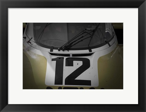 Framed Racing number Print