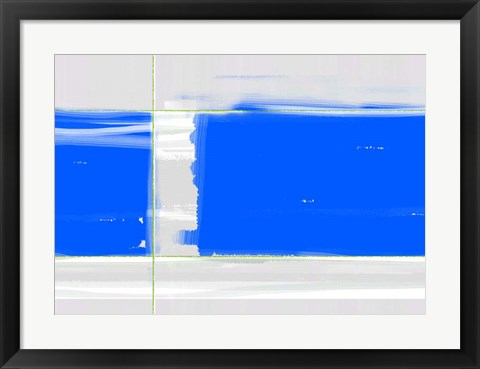 Framed Abstract Blue Print