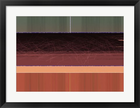 Framed Abstract Brown Field Print