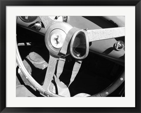 Framed Ferrari Steering Wheel 1 Print