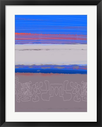 Framed Abstract  Blue View 1 Print