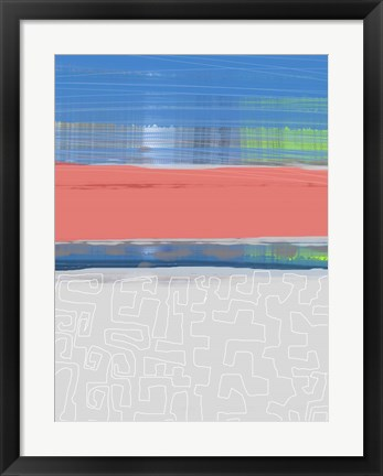 Framed Abstract  Blue View 2 Print