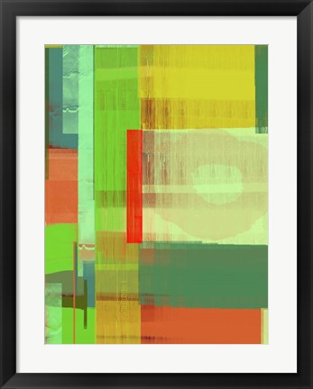 Framed Green and Brown Abstract 3 Print