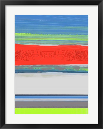 Framed Abstract  Blue View 4 Print