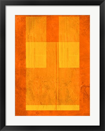 Framed Orange Paper 1 Print