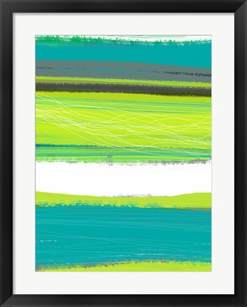 Framed Aquatic Breeze 1 Print