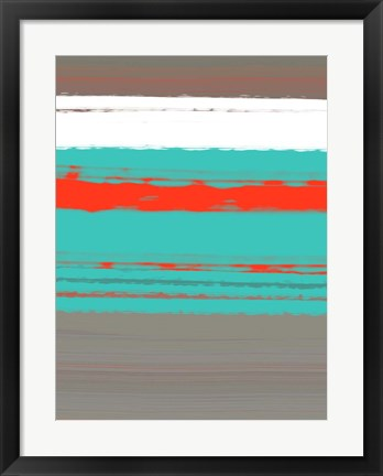 Framed Aquatic Breeze 4 Print
