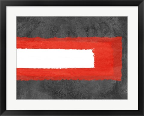 Framed Grey and Red Abstract 6 Print