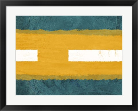 Framed Green and Yellow Abstract Theme 1 Print