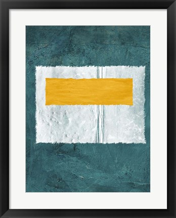 Framed Green and Yellow Abstract Theme 4 Print