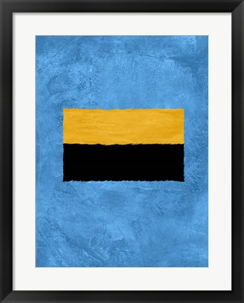 Framed Blue and Square Theme 1 Print