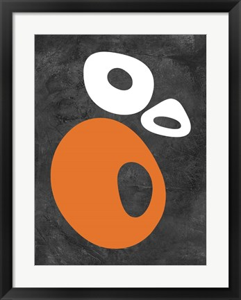 Framed Abstract Oval Shapes 1 Print