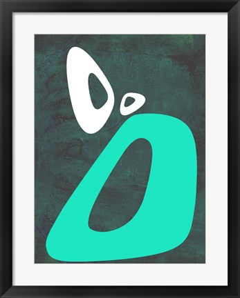 Framed Abstract Oval Shape 5 Print