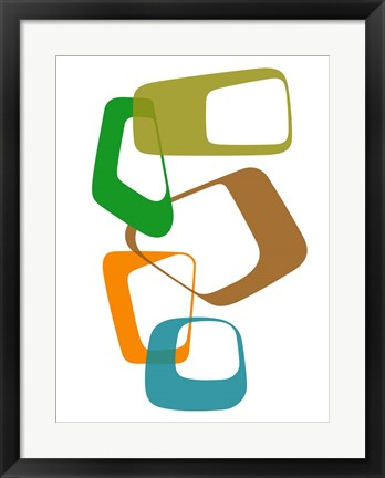 Framed Abstract Rings 1 Print