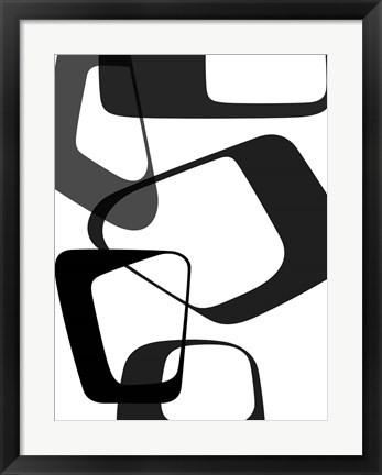 Framed Abstract Rings 2 Print