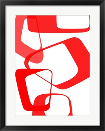 Framed Abstract Rings 3 Print