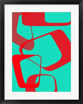 Framed Abstract Rings 4 Print