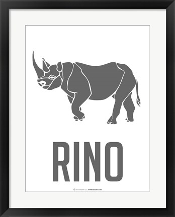 Framed Rino Black Print