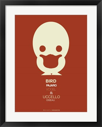 Framed White Bird Multilingual Print