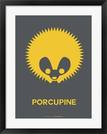 Framed Yellow Porcupine Multilingual Print