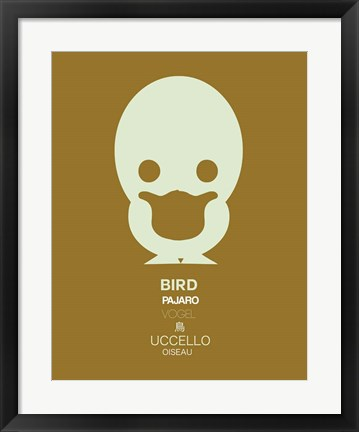 Framed Yellow Bird Multilingual Print