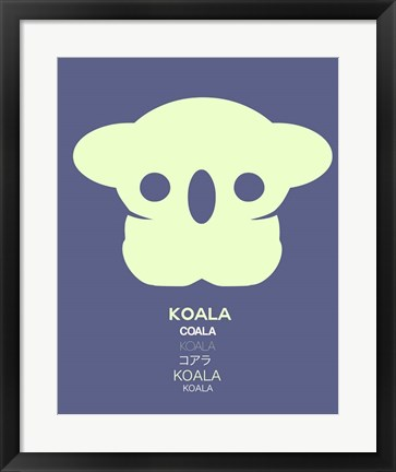 Framed Yellow Koala  Multilingual Print