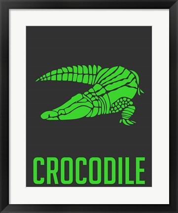 Framed Crocodile Green Print