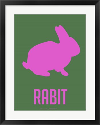 Framed Rabbit Pink Print