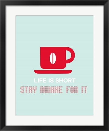 Framed Coffee Red Print