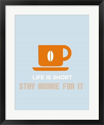 Framed Coffee Orange Print