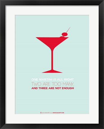 Framed Martini Red Print