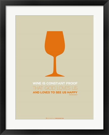 Framed Wine Orange Print