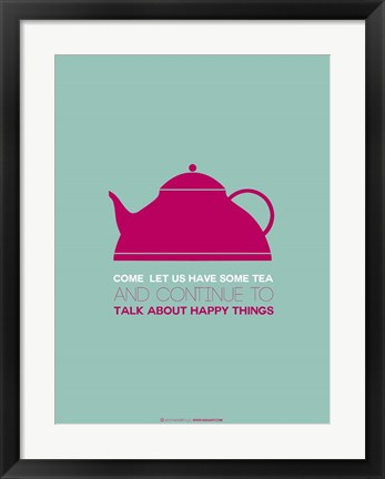 Framed Tea Pink Print