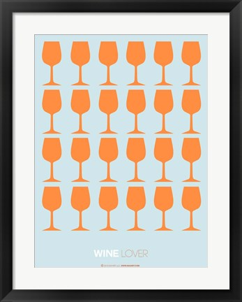 Framed Wine Lover Orange Print