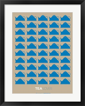 Framed Tea Lover Blue Print