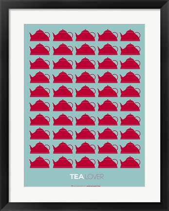 Framed Tea Lover Red Print