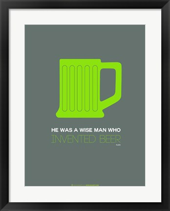 Framed Green Beer Mug Print