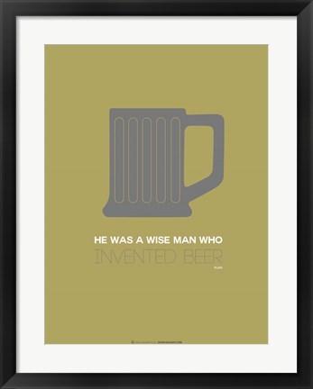 Framed Grey Beer Mug Print