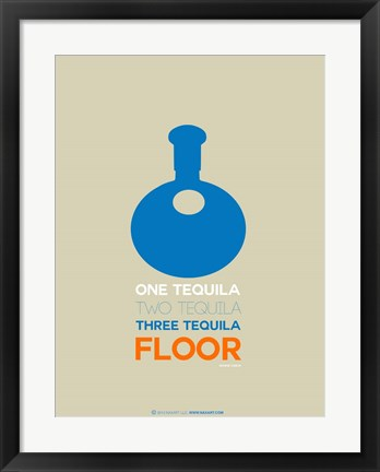 Framed Blue Tequila Print