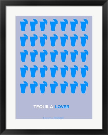 Framed Blue Tequila Shots Print
