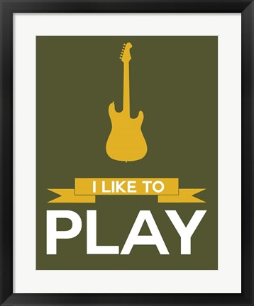 Framed I Like to Play 6 Print