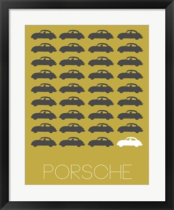 Framed Porsche Grey Print