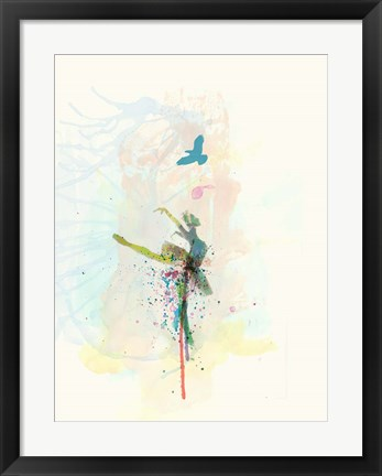 Framed Ballerina on the Stage Print
