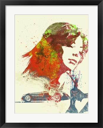 Framed Ferrari Girl Print