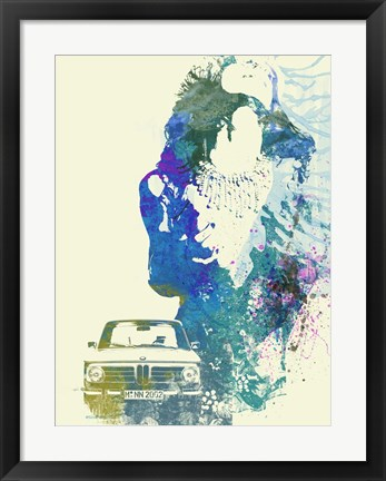 Framed BMW Girl Print