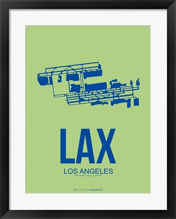Framed LAX Los Angeles 1 Print